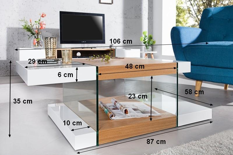 Grande Table De Salon Scandinave Blanche Et Bois Varberg Gdegdesign